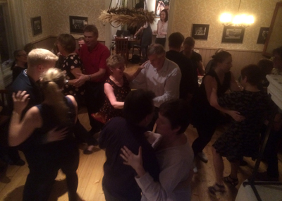 Swing After Work med Mildreds swingskola på Bagarstugan i Mariehamn på Åland 16 januari 2015 Lindy hop Balboa Hot jazz New Orleans BLT sandwich Fira in helgen
