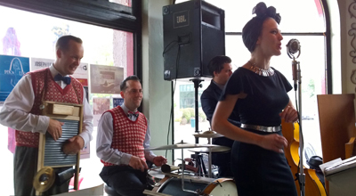 Miss Jubilee Daniel Johansson Dan Connor Valerie Jo Kirchhoff St Louis Hot Jazz Brunch Rhythm section twins